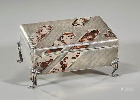 JAPANESE SILVER ENAMELED BOX