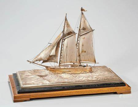 JAPANESE SILVER BOAT