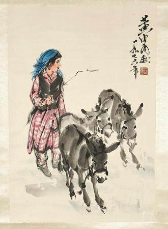 CHINESE INK & COLOR ON PAPER PAINTING