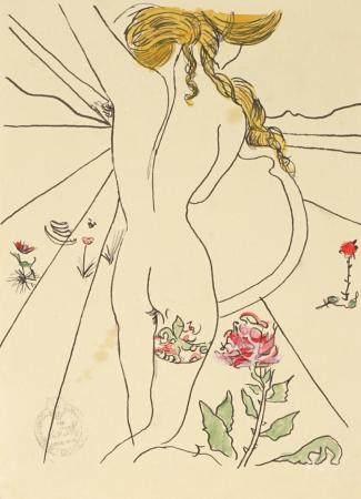attrib. Salvador Dali Untitled Mixed Media Nude