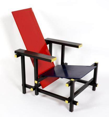 Gerard van de Groenekan Rietveld Red Blue Chair