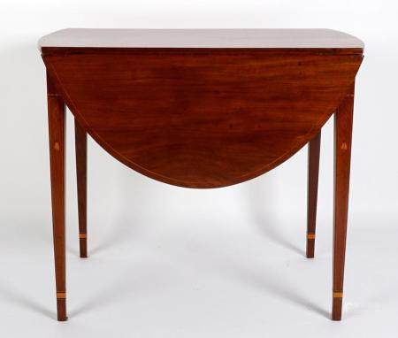 Rare Baltimore Hepplewhite Inlaid Pembroke Table