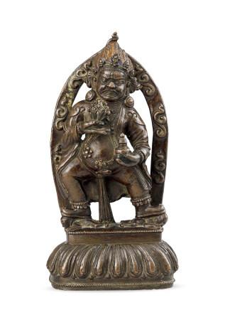 15世紀 銅金剛手菩薩像