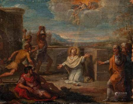 Ecole FRANCAISE vers 1660, entourage de Charles LE BRUNLa lapidation de Saint EtienneToile28,5