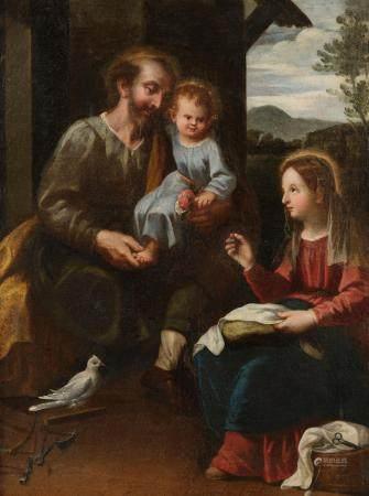 Ecole ESPAGNOLE vers 1630L'Education du ChristToile97 x 71 cmPorte un numéro N°56 au revers de