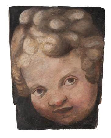 Attribué à Frederico ZUCCARI (Sant'Angelo in Vado, 1539 - Ancône, 1609)Tête de Putto Peinture à