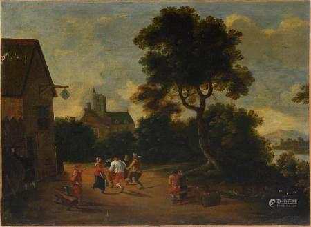Ecole FLAMANDE de la  fin du XVIIe - début du XVIIIe siècle, suiveur de APSHOVENFête de village