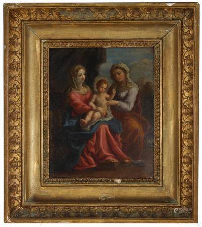 18th C. Old Master Painting on Tin