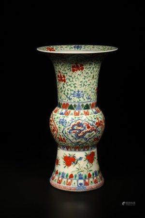 A Chinese Wu-Cai Porcelain