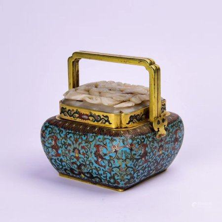 "A Chinese ""Qianlong Nianzhi"" Style Cloisonne Censer"