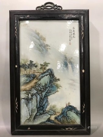 A Chinese Famille Rose Porcelain Plaque Of The Fifties