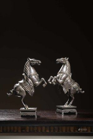 """A Chinese Silver """"Twin Horse"""""""