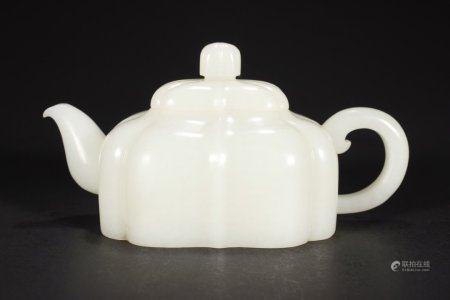 A Chinese Hetian Jade Tea Pot