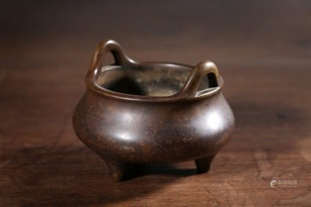 A Chinese Xuande-Style Censer,Qing Dynasty