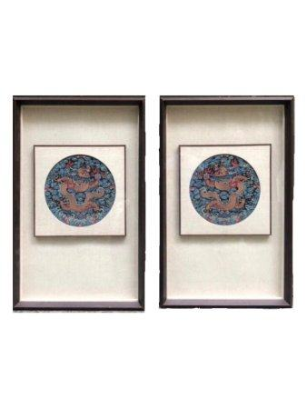 A Pair Of Chinese Embroideries,Guangxu Period