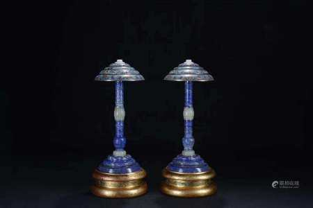 A Pair Of Chinese Cloisonne Hat Stands,Qing Dynasty