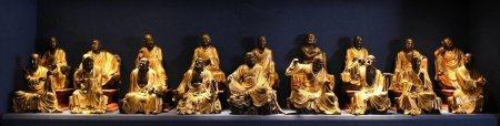 Chinese Gilt Bronze Statues Of Buddha,Qing Dynasty