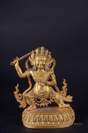 A Chinese Gilt Bronze Statue