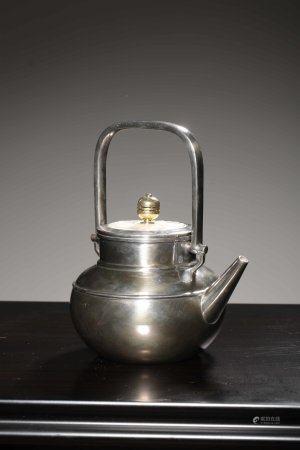 Showa Period Fine Silver Pot