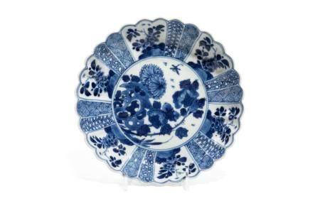 CHINESE KANGXI BLUE & WHITE PORCELAIN DISH