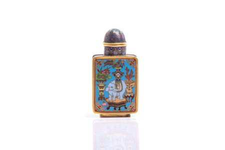 CHINESE CLOISONNE ENAMELLED SNUFF BOTTLE