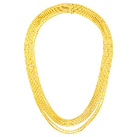 Seven Strand Gold Necklace