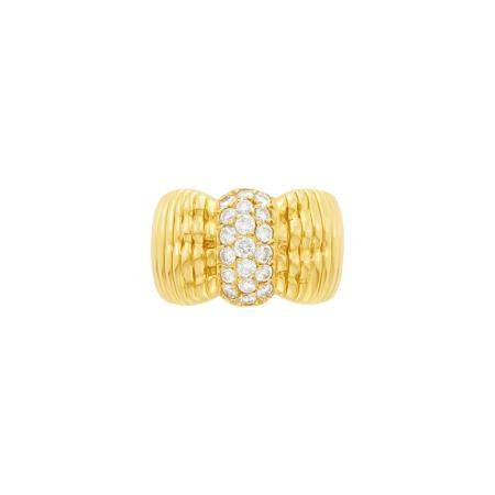 Van Cleef & Arpels Gold and Diamond Ring, France