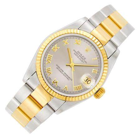 Rolex Stainless Steel and Gold 'Oyster Perpetual DateJust' W