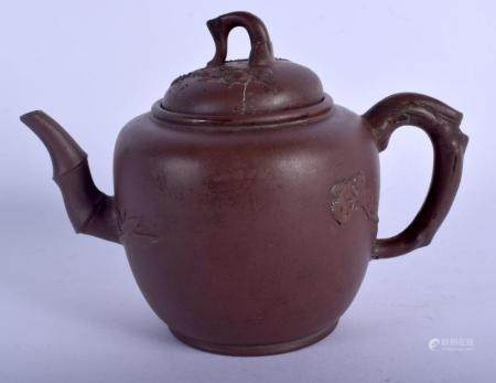 A 19TH CENTURY CHINESE YIXING POTTERY TEAPOT AND COVER mould