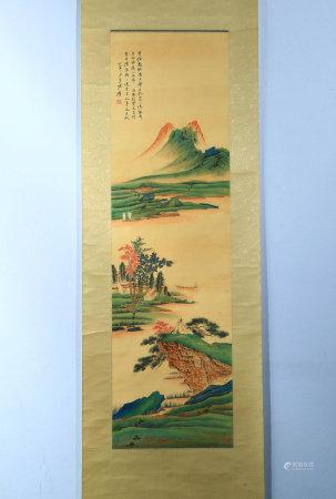 A CHINESE LANDSCAPE PAINTING,ZHANG DAQIAN MARK