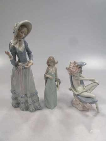 Three Lladro figures to include two figures of ladies