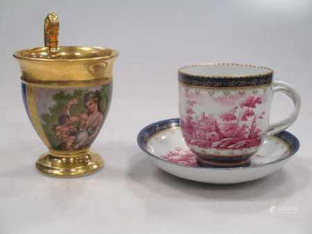 A Paris porcelain (Duhamel) cabinet cup,