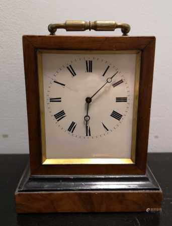 A French 19th century rosewood mantel timepiece,