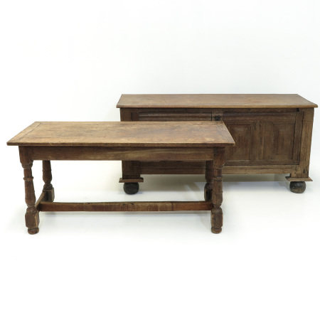 A Monastery Table and Oak Sideboard