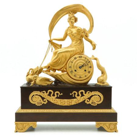 A Gilded Bronze Empire Pendulum