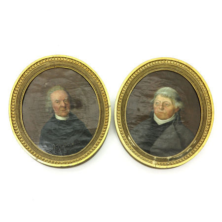 A Pair of 18th - 19th Century Portrait Paintings