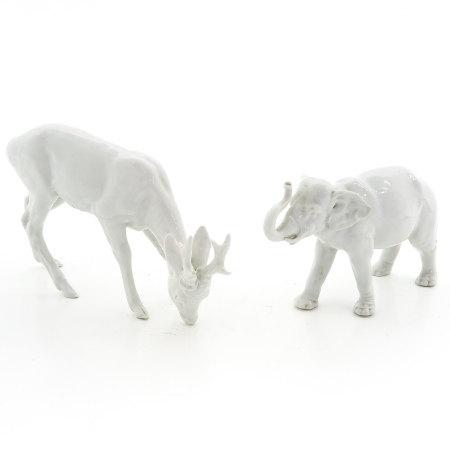A Lot of 2 Meissen Animal Sculptures