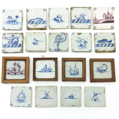 A Collection of 17th - 18th Century Tiles