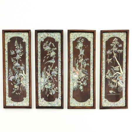 A Series of 4 Wall Panels