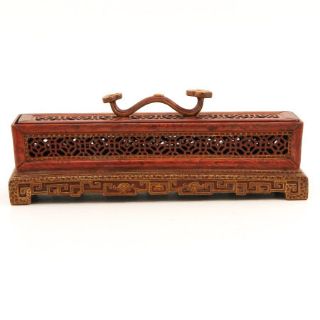 A Orange and Gilt Box