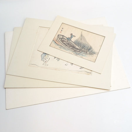 A Collection of 4 Chinese Water Colors