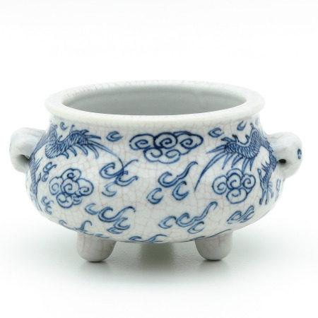 A Blue and White Censer