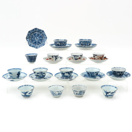 A Collection of Cups and Saucers
