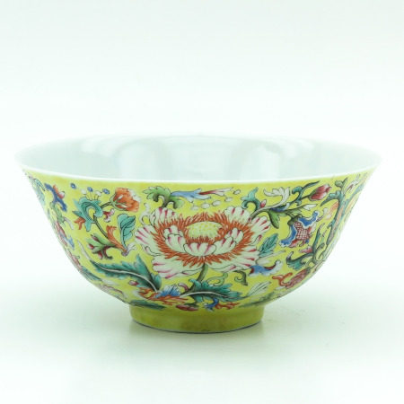 A Famille Jaune Bowl