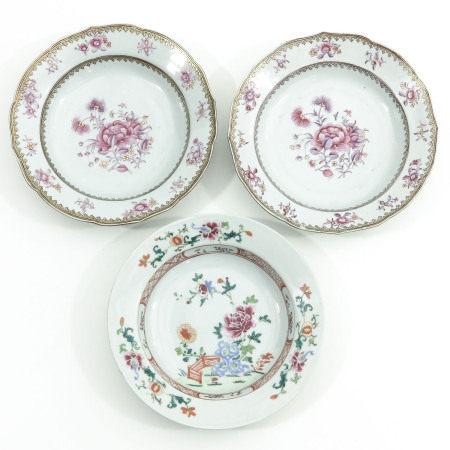 Three Floral Decor Plates