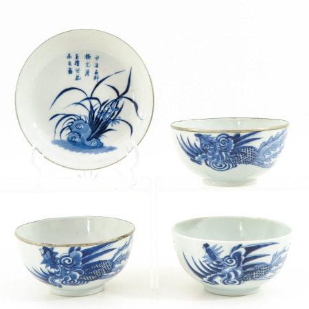 A Collection of Bleu de Hue Porcelain
