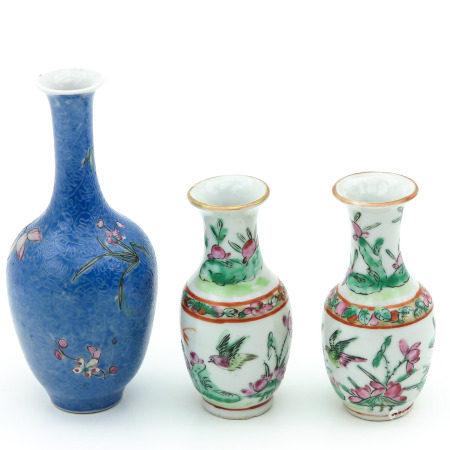 Three Small Vases