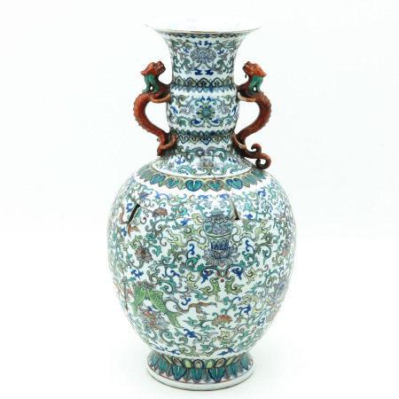 A Polychrome Vase