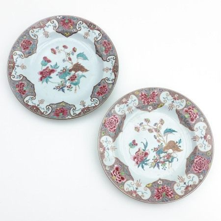 A Pair of Tobacco Leaf Decor Chargers