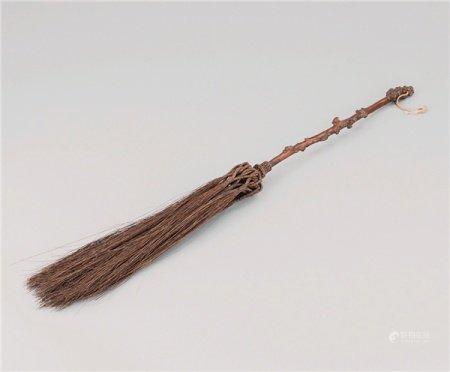 清代(1644-1911) 随形木拂尘
